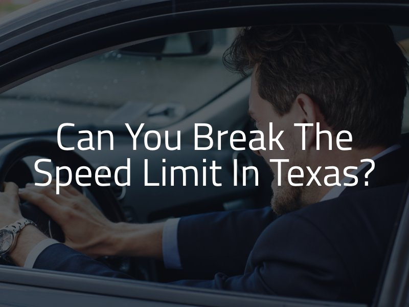 Speeding in Texas is Illegal