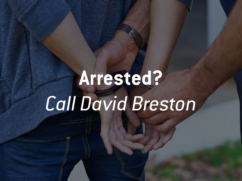 Person being arrested