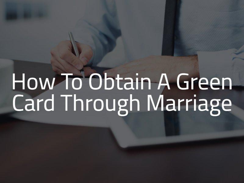 how toobtain a green card through marriage